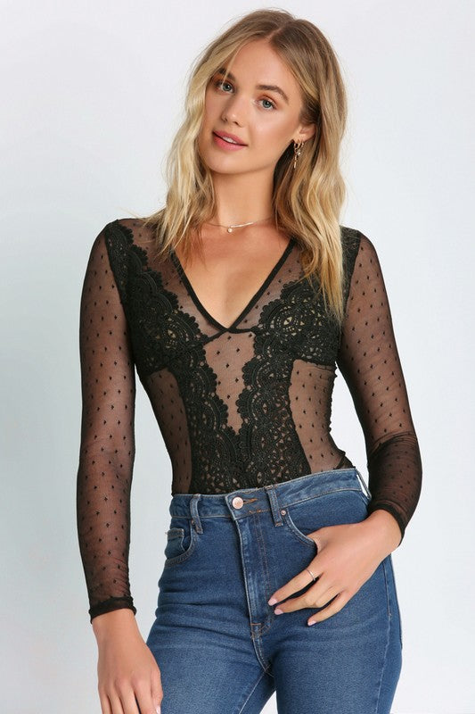 In The Desert Lace Bodysuit