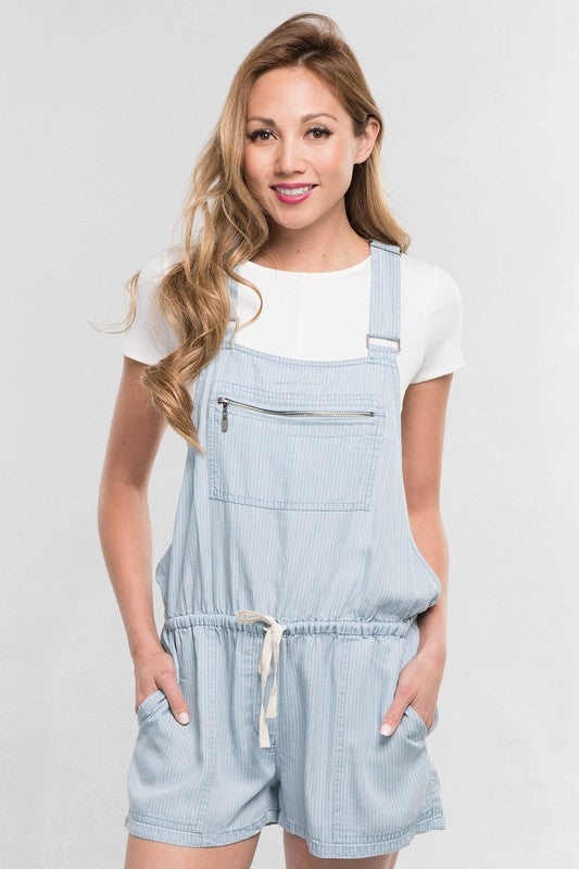 Tencel Pin Stripe Overalls