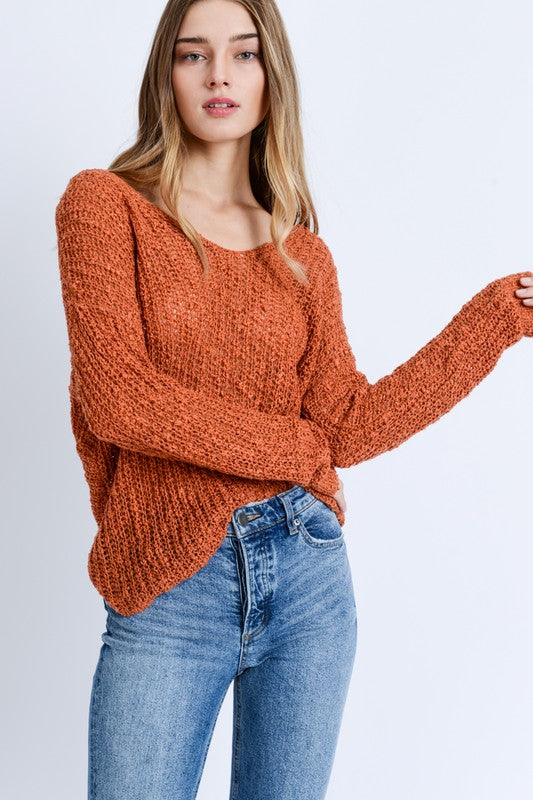 Sunshine Open Back Sweater