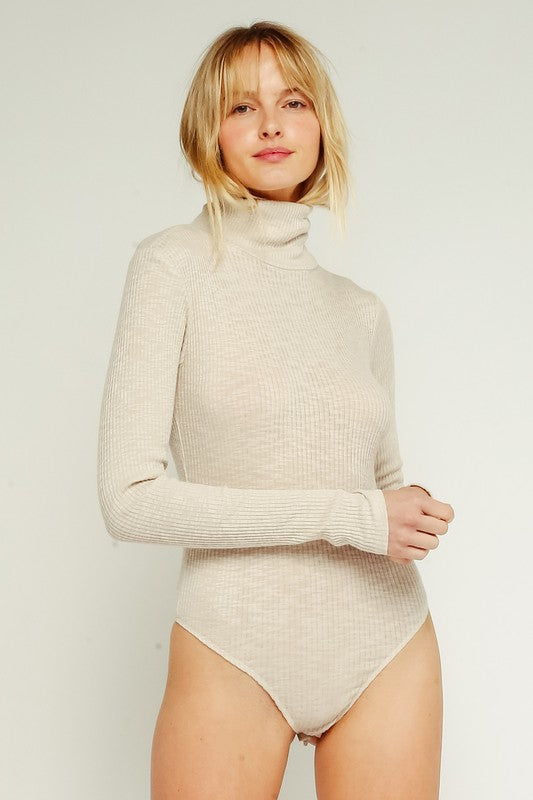 White Turtleneck Bodysuit