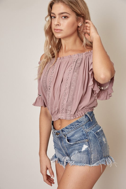 Rio Off The Shoulder Lace Top