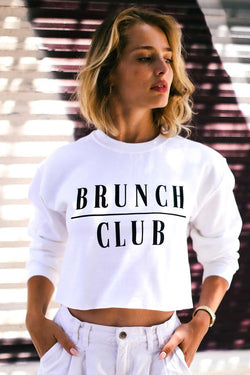 Brunch Club Crop Sweater