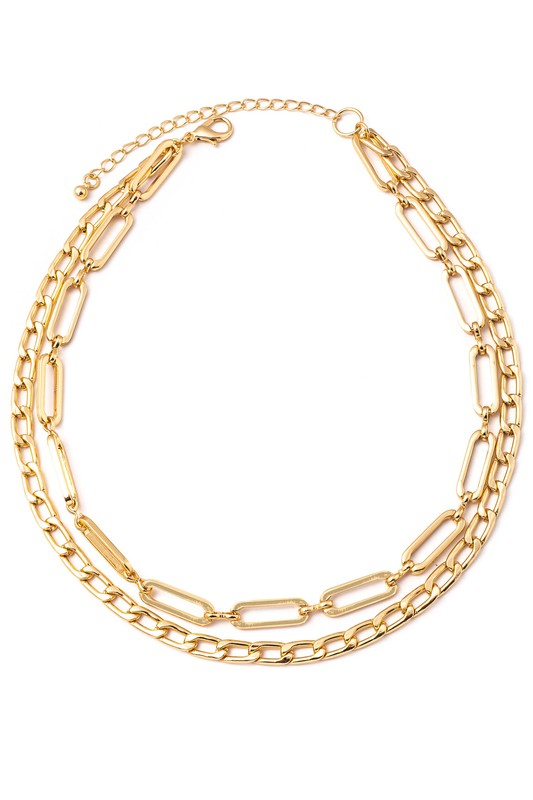Anarchy Layered Chain Link Necklace