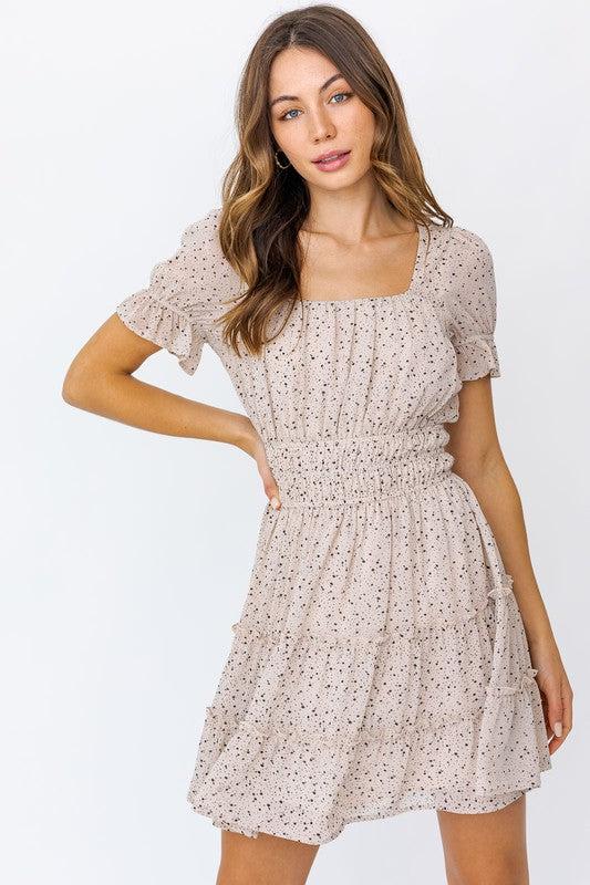 Home Town Dress - Cream/Black