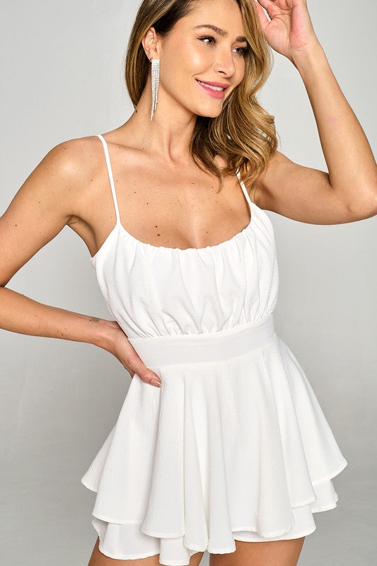 Pretty In White Romper