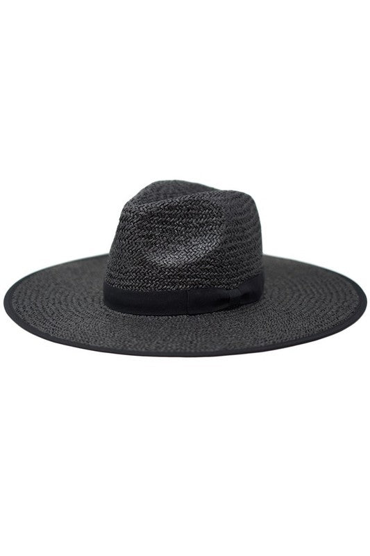 Paper Straw Pinched Hat