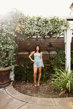 Something Blue Eyelet Romper