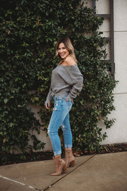 Girl Code Fringe Sweater
