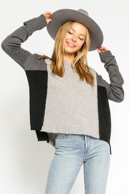 Jenny Color Block Sweater