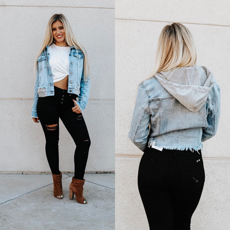 Draya Cropped Jean Jacket
