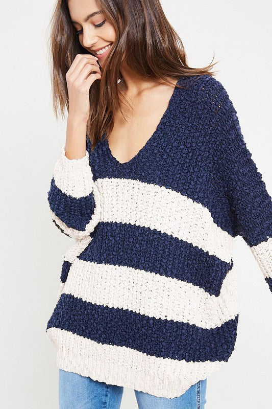 Wishful Striped Sweater