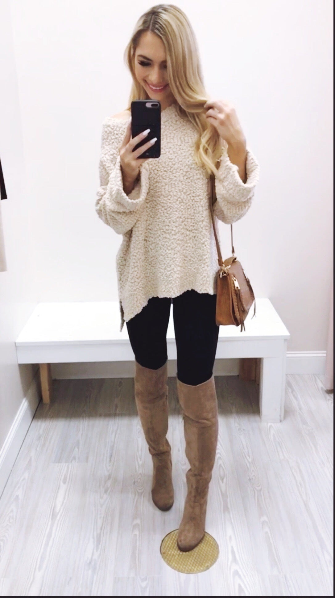 Sweater Weather Popcorn Pullover