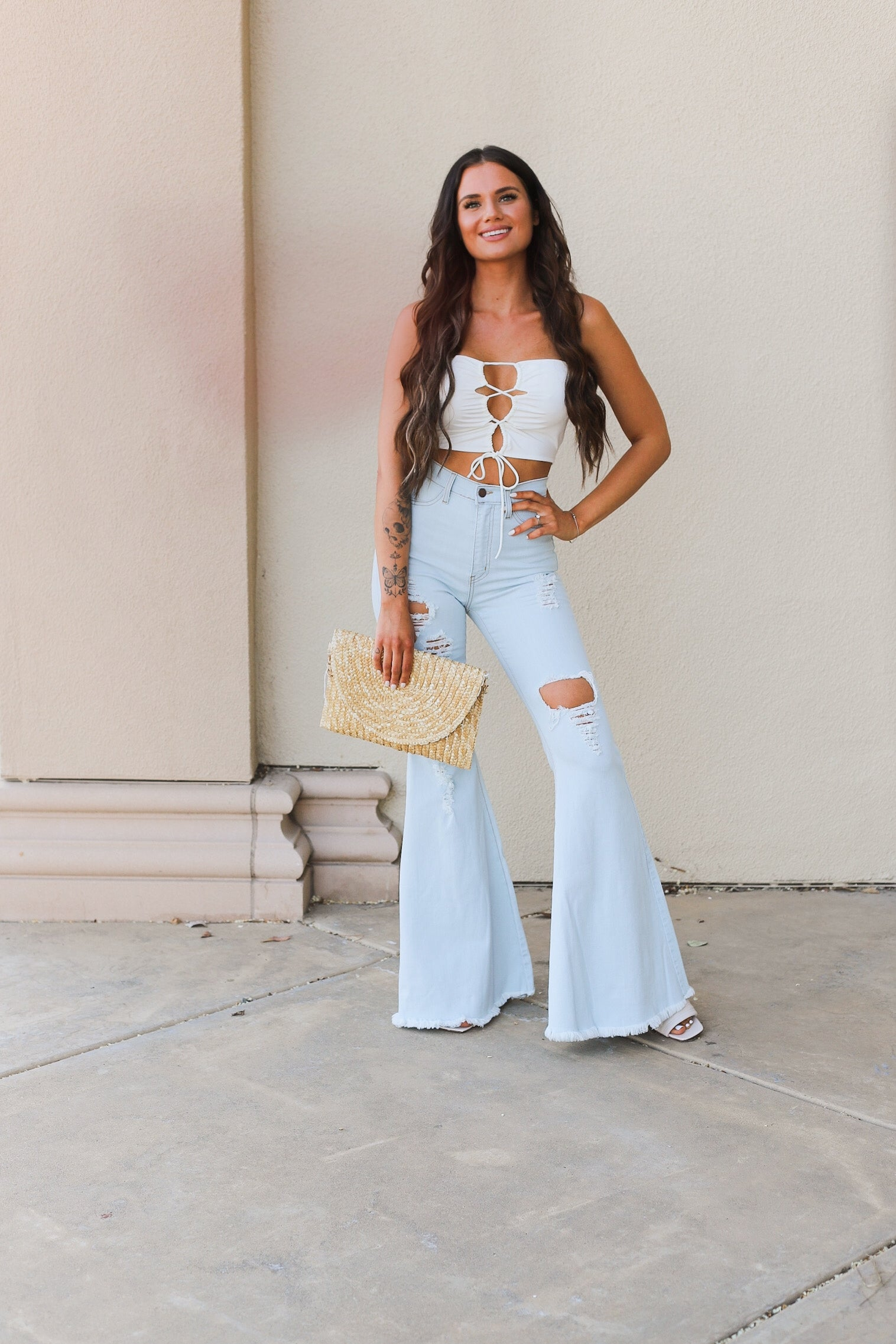 Lace It Up Tube Top