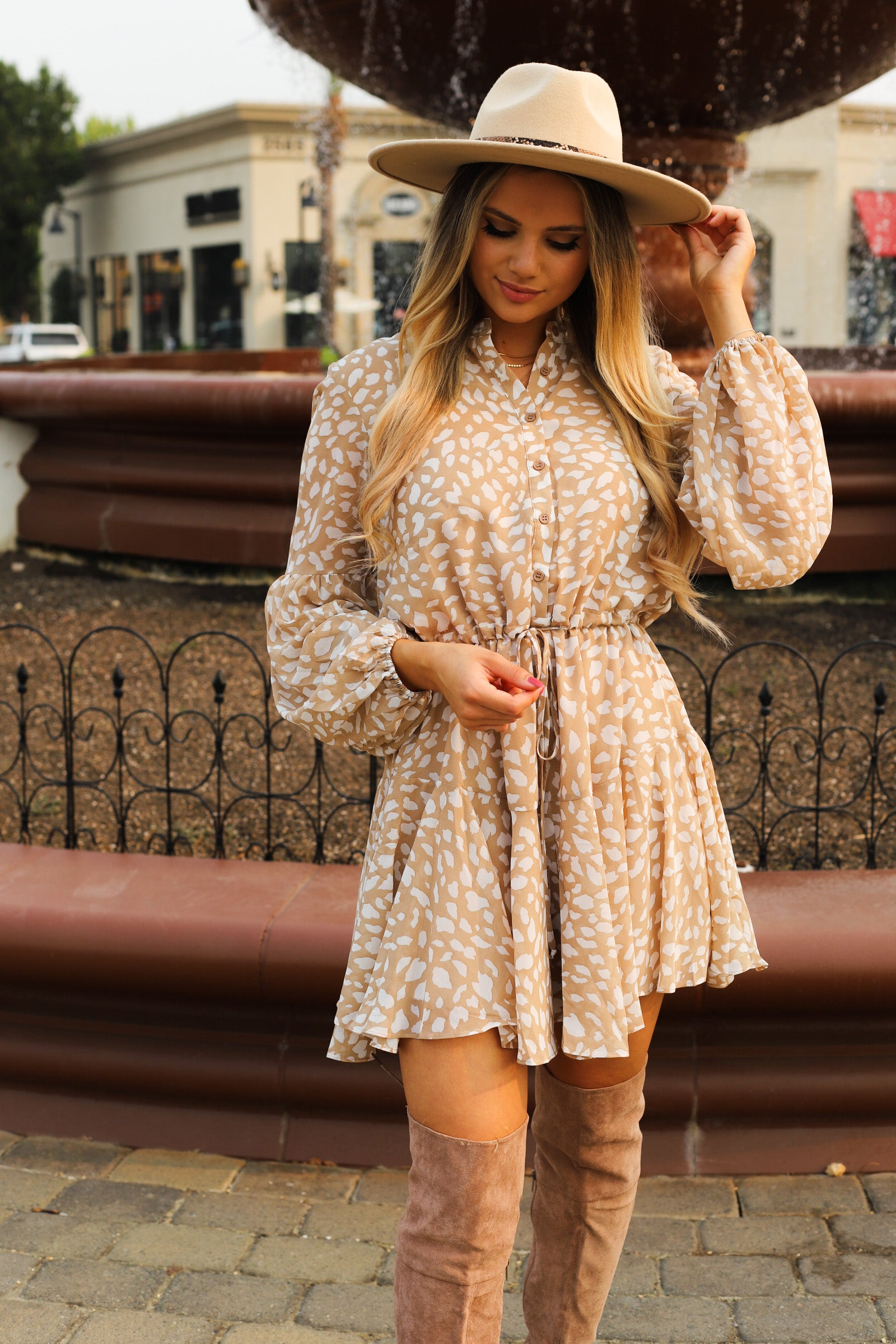 Falling For Leopard Dress
