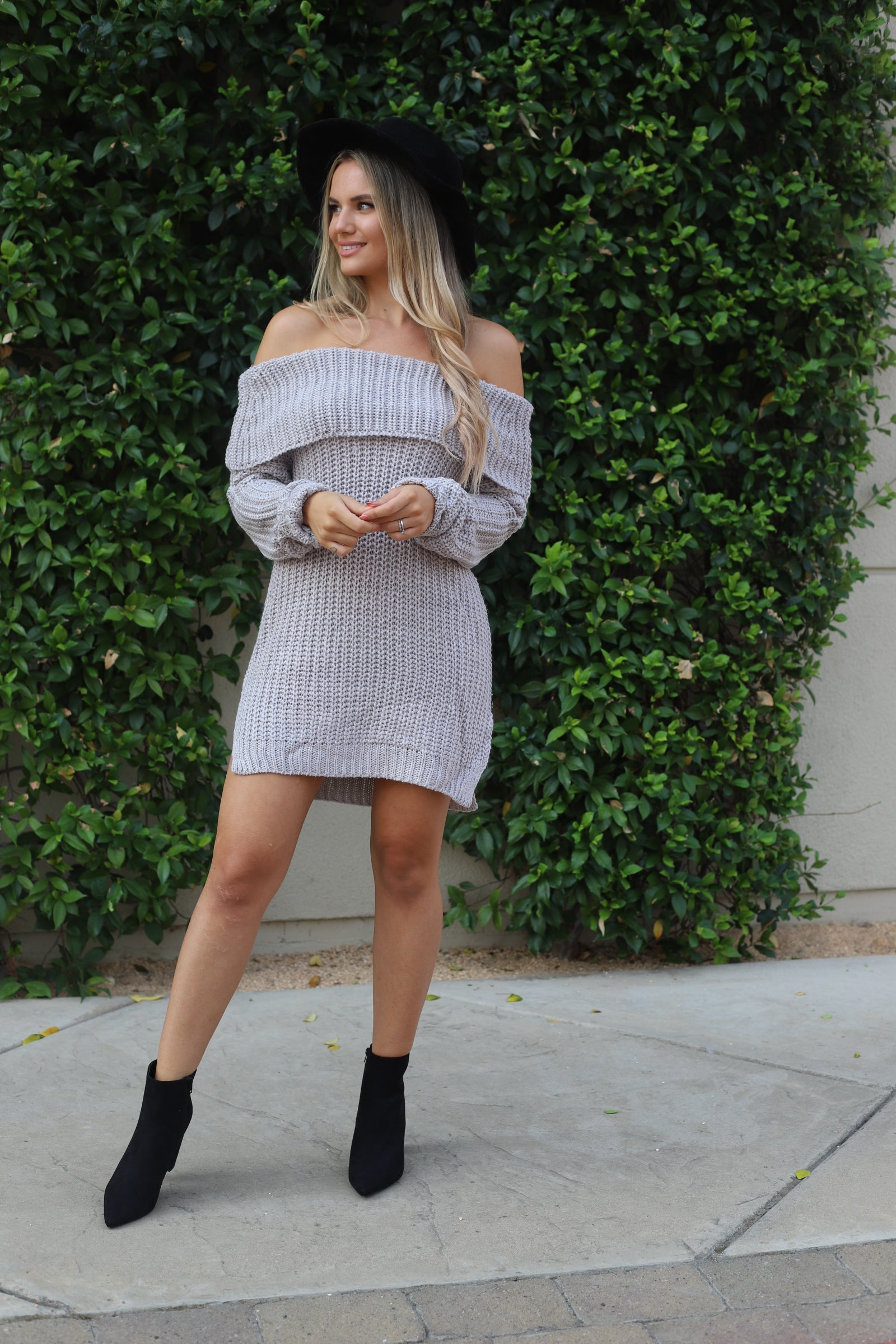 Pumpkin Spice OTS Sweater Dress
