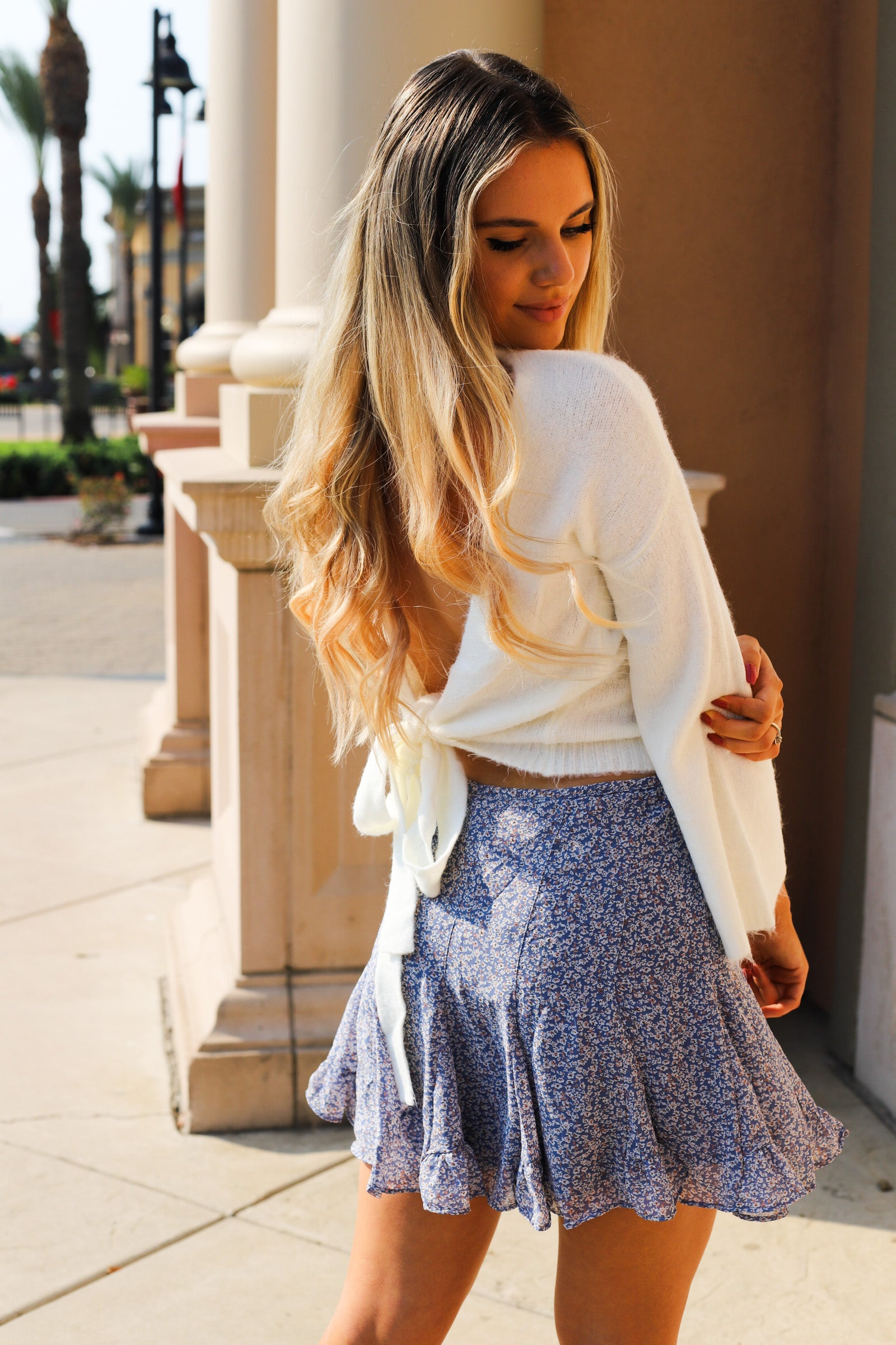 Dusty Roads Skirt - Blue