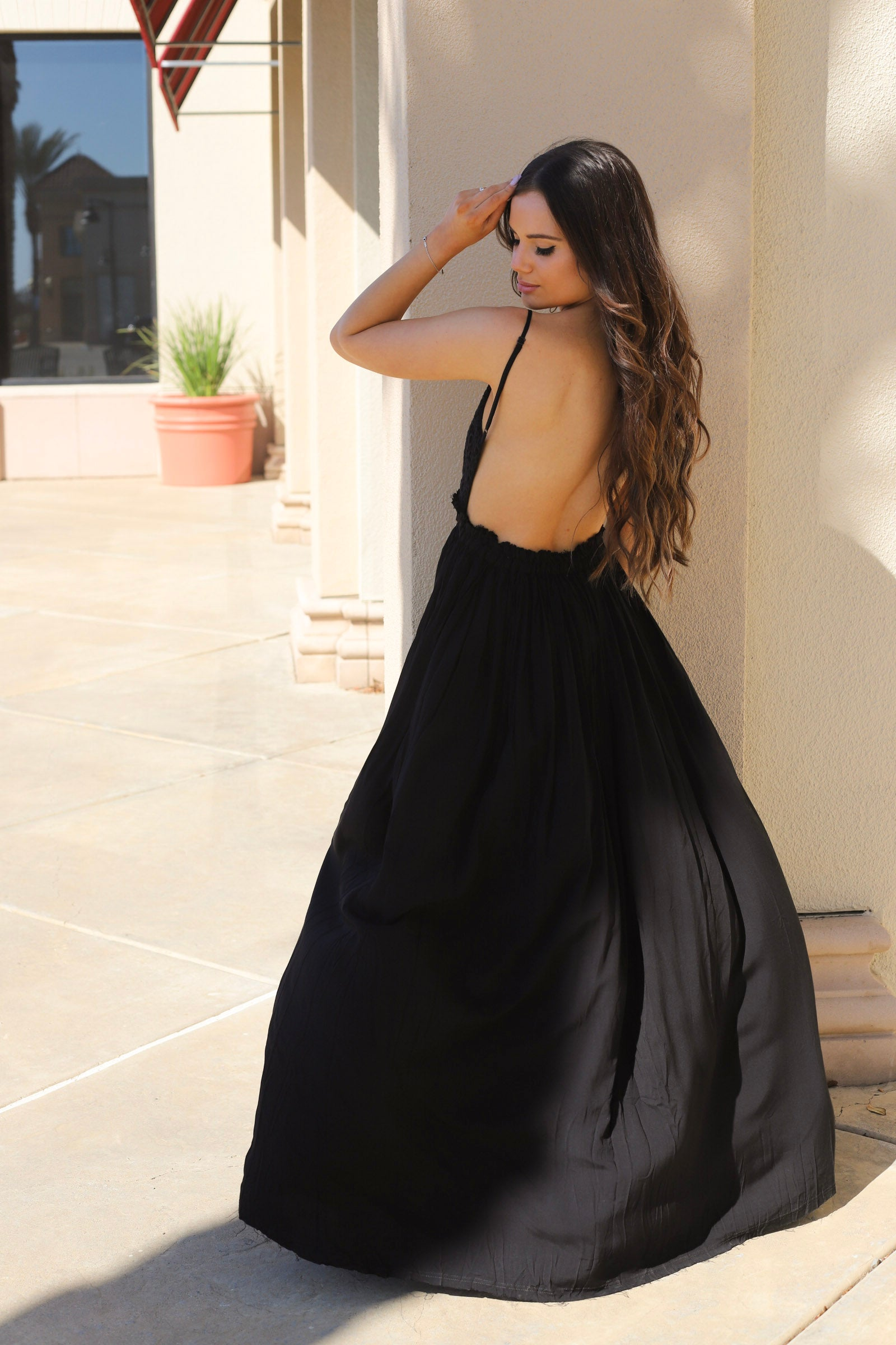 Last Dance Open Back Maxi