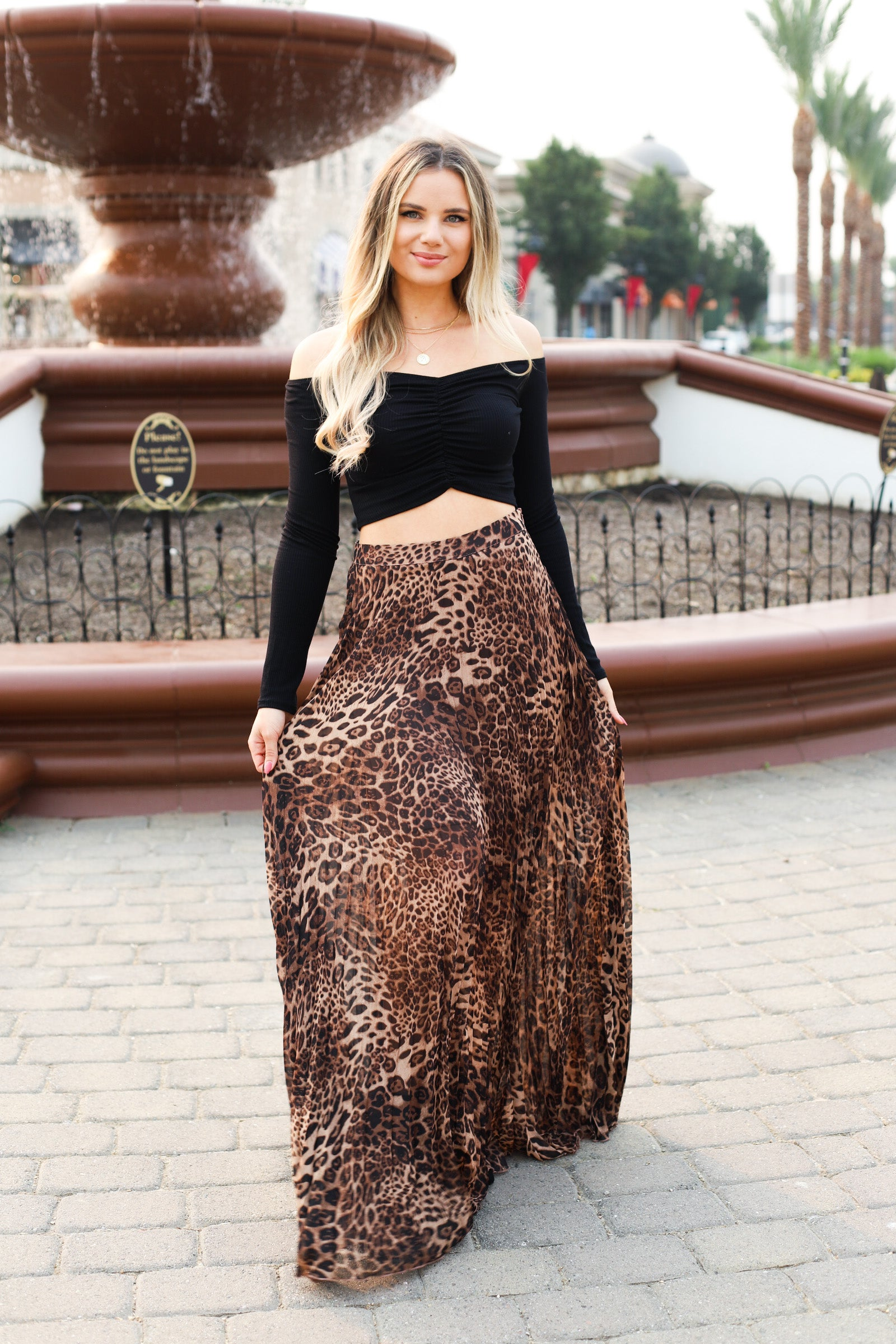 Something Wonderful Leopard Maxi Skirt