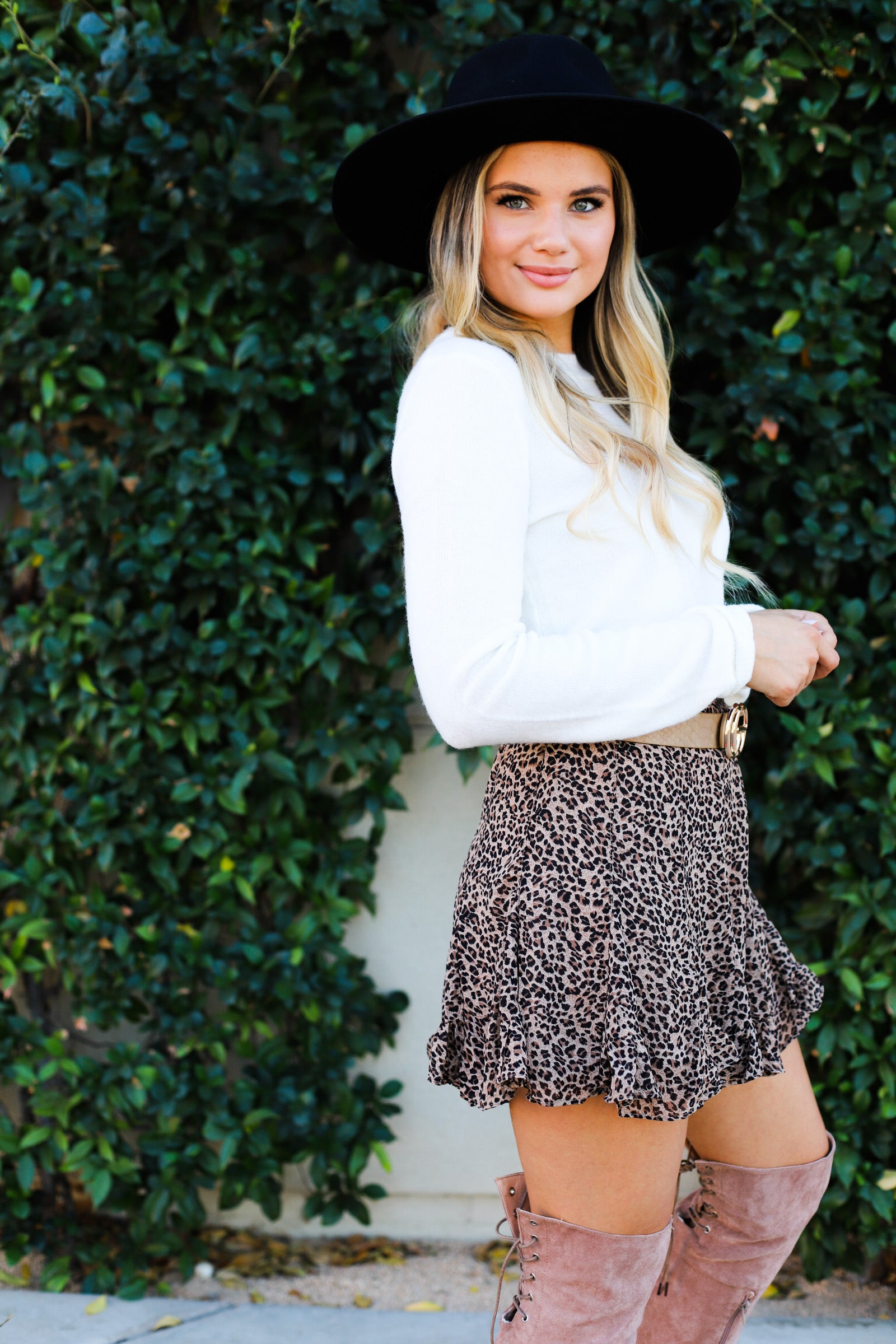 Cheetah Ruffled Mini Skirt