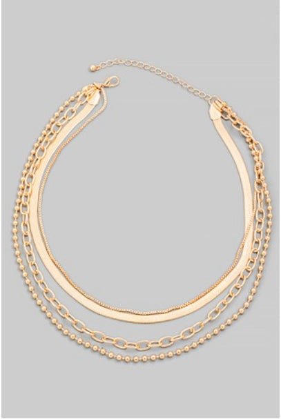 West Coast Layered Chain Necklace