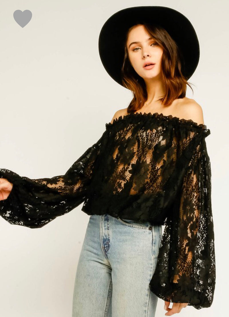Lady OTS Lace Blouse
