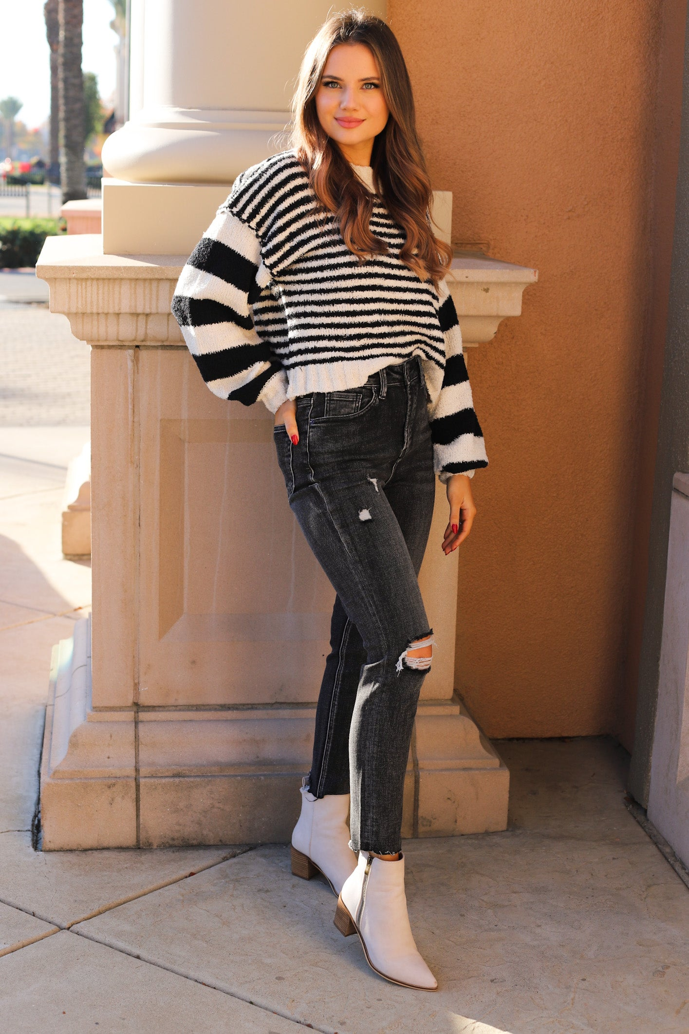 BT Striped Oversized Sweater
