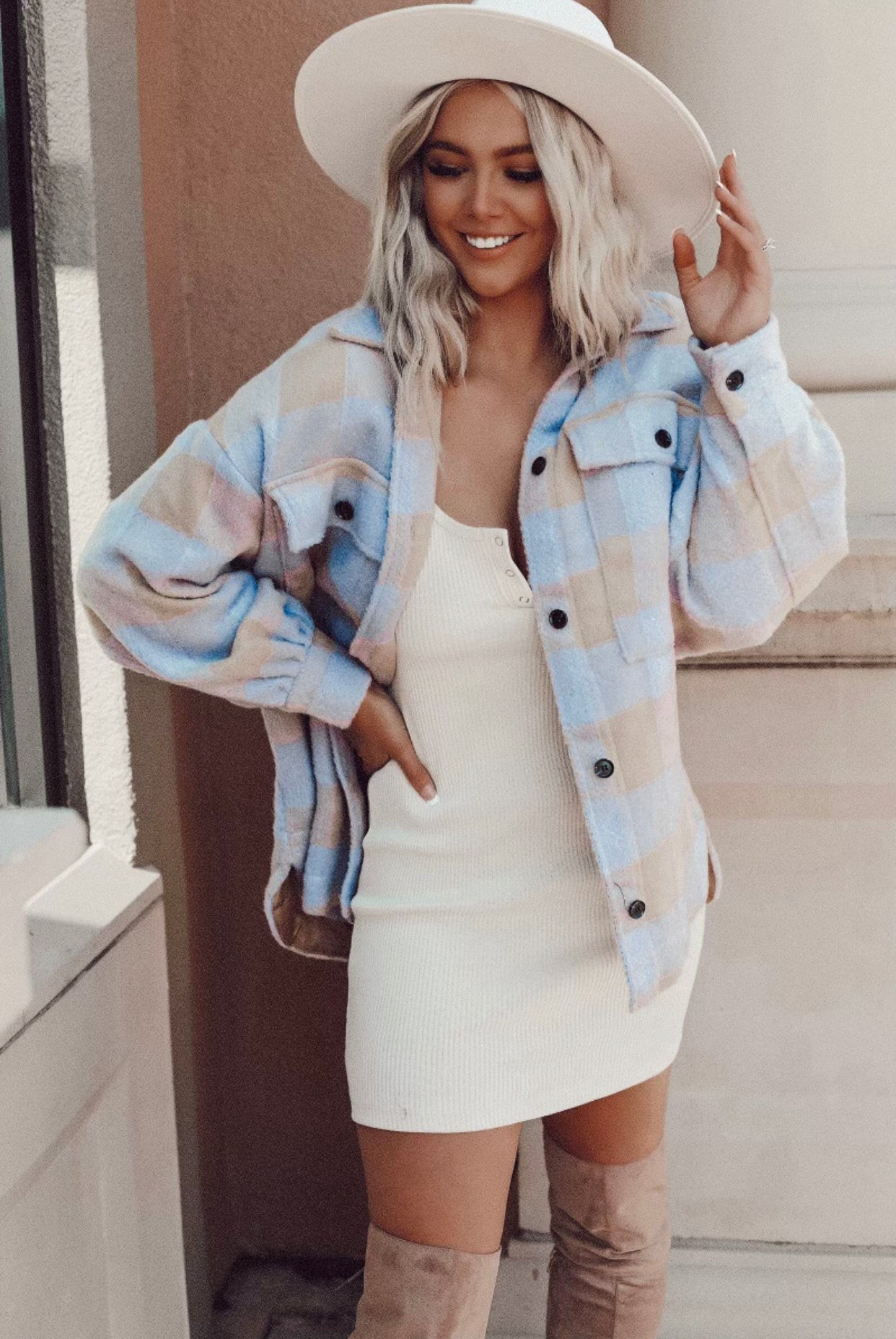 Vivian Button Up Mini Dress