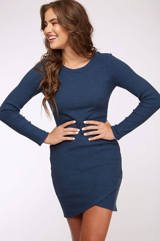 Sneak Out Brushed Rib Dress