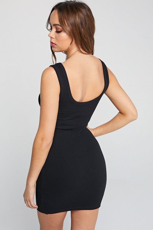 Basic B Mini Dress