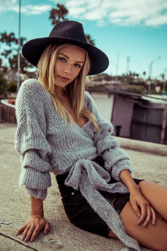 Fuzzy Wrap Sweater