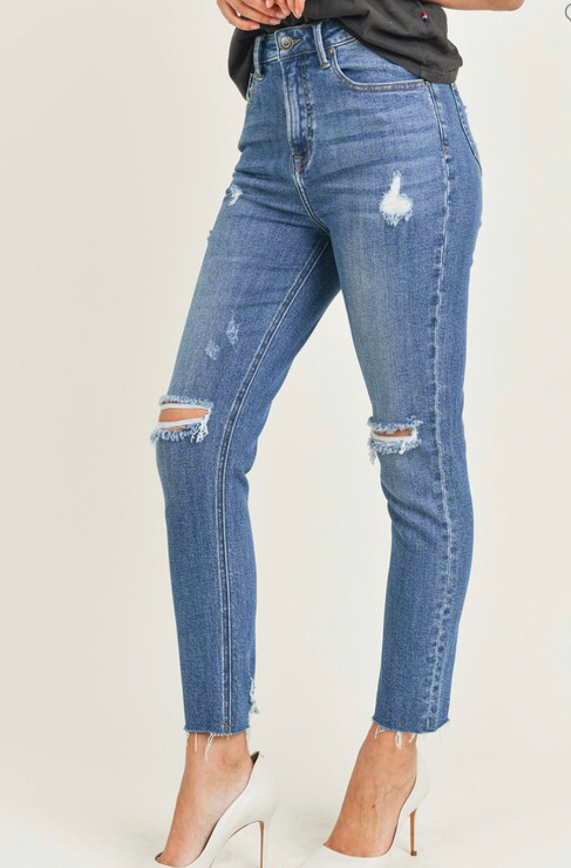The City High Rise Straight Leg Jeans