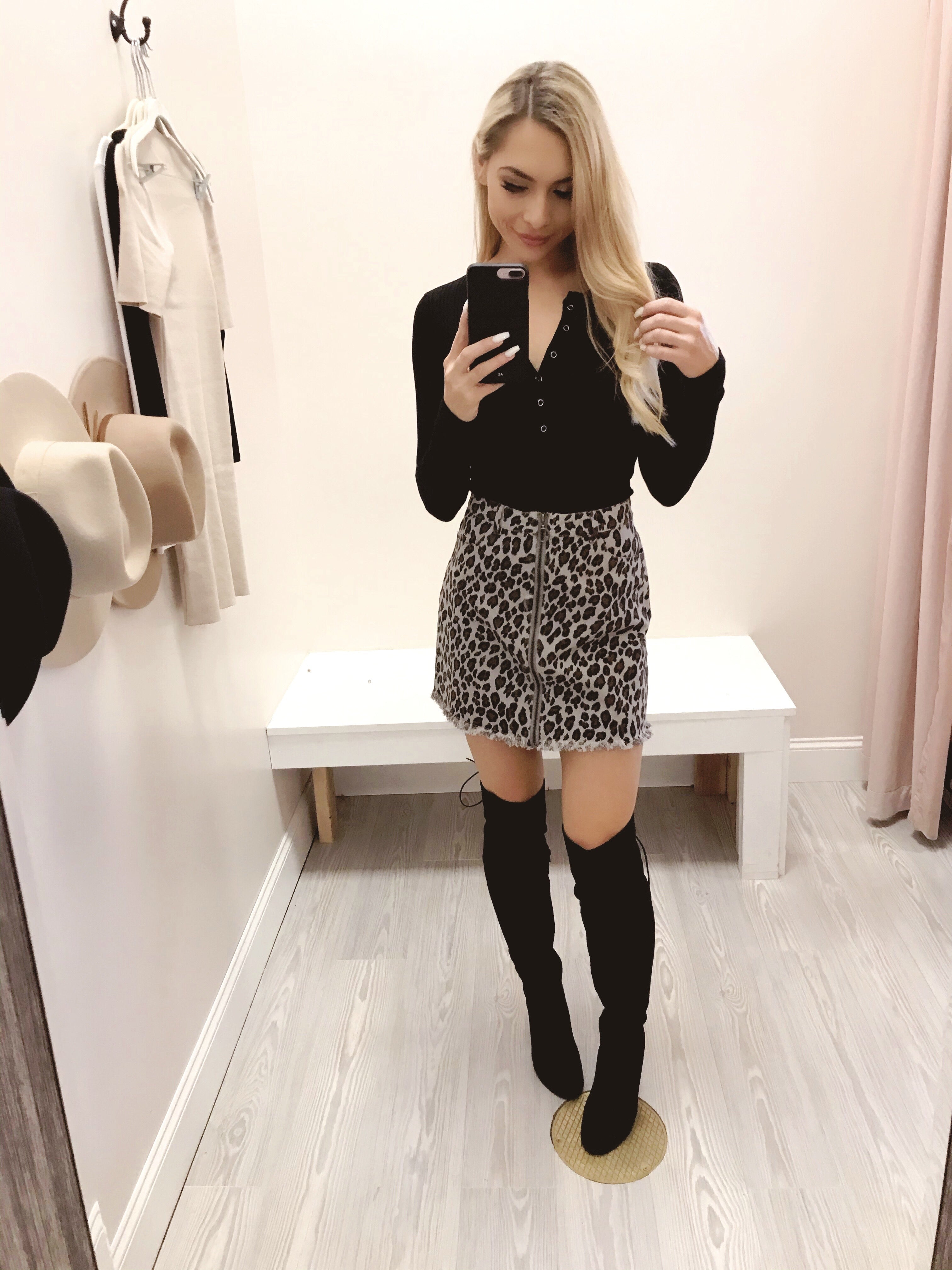Brittany Leopard Skirt