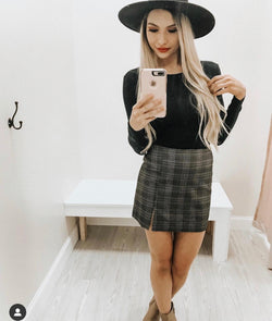 Teachers Pet Plaid Skirt
