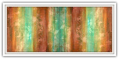 sedona teal and brown art