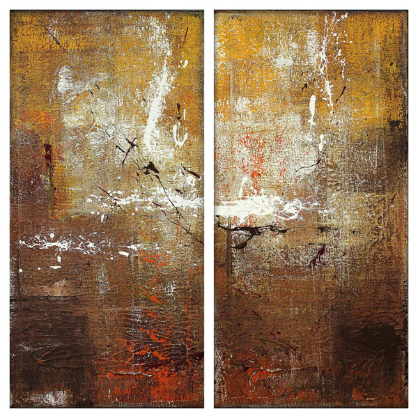 Untitled - Set of 2 Urban Abstract Paintings