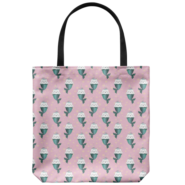 Pink Mermaid Cat Tote - The Modern Home Co. by Liz Moran