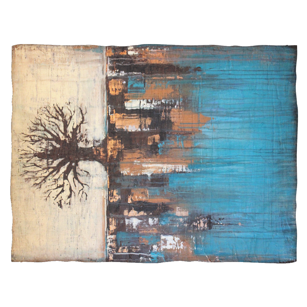 Teal Tree Blanket - The Modern Home Co. by Liz Moran