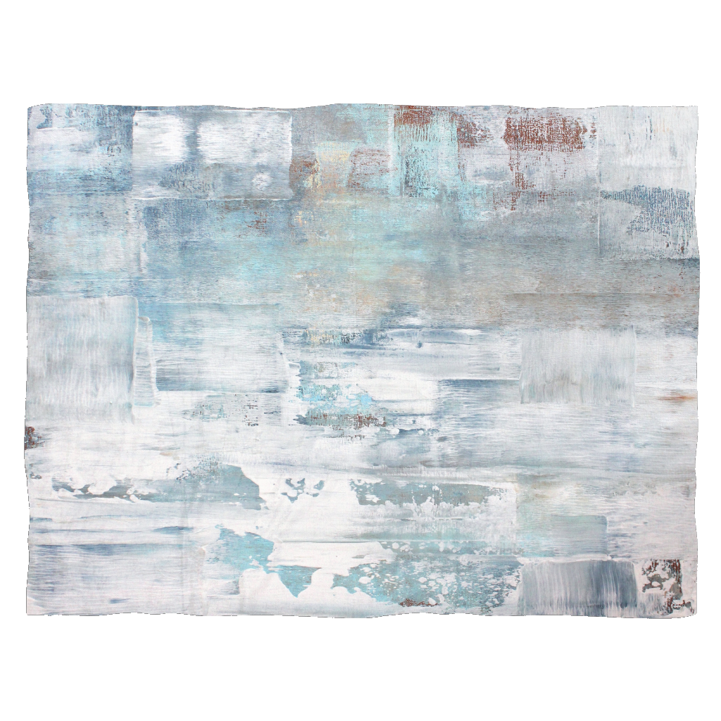 Frost - Blue and White Fleece Blanket - The Modern Home Co. by Liz Moran