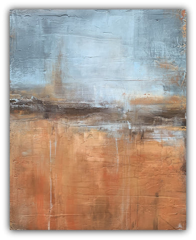 New Year - Rustic Abstract Painting