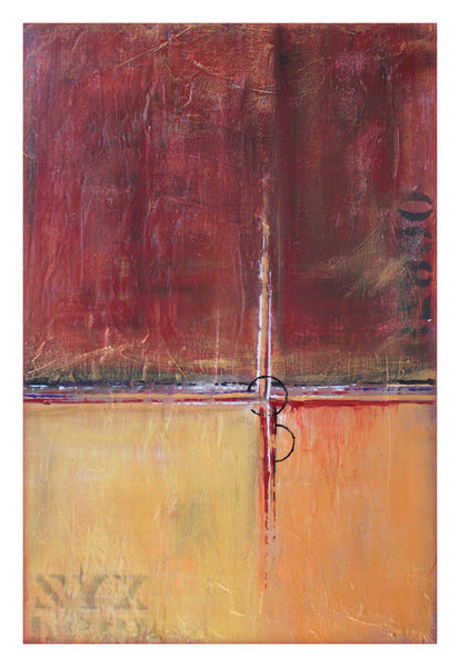 Red and Gold Wall Art - Contemporary Art Poster - The Modern Home Co. by Liz Moran