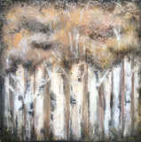 Birch Forest - Textured Canvas Painting - The Modern Home Co. by Liz Moran