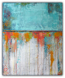 Coral Reef - Blue and White Textured Art - Acrylic on Canvas Painting - The Modern Home Co. by Liz Moran