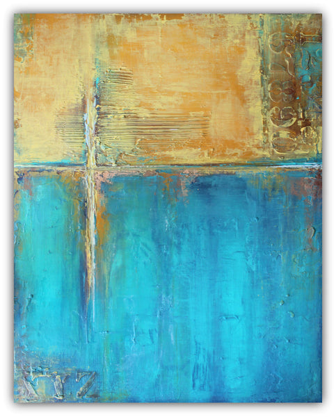 Caribbean Cargo - Textured Abstract Painting on Canvas
