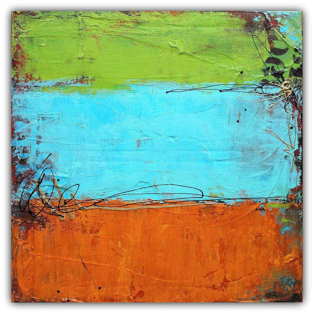 Rusted Graffiti - Urban Abstract Painting - Acrylic on Canvas