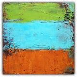 Rusted Graffiti - Urban Abstract Painting - Acrylic on Canvas - The Modern Home Co. by Liz Moran