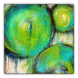 Firefly - Abstract Circle Painting - The Modern Home Co. by Liz Moran