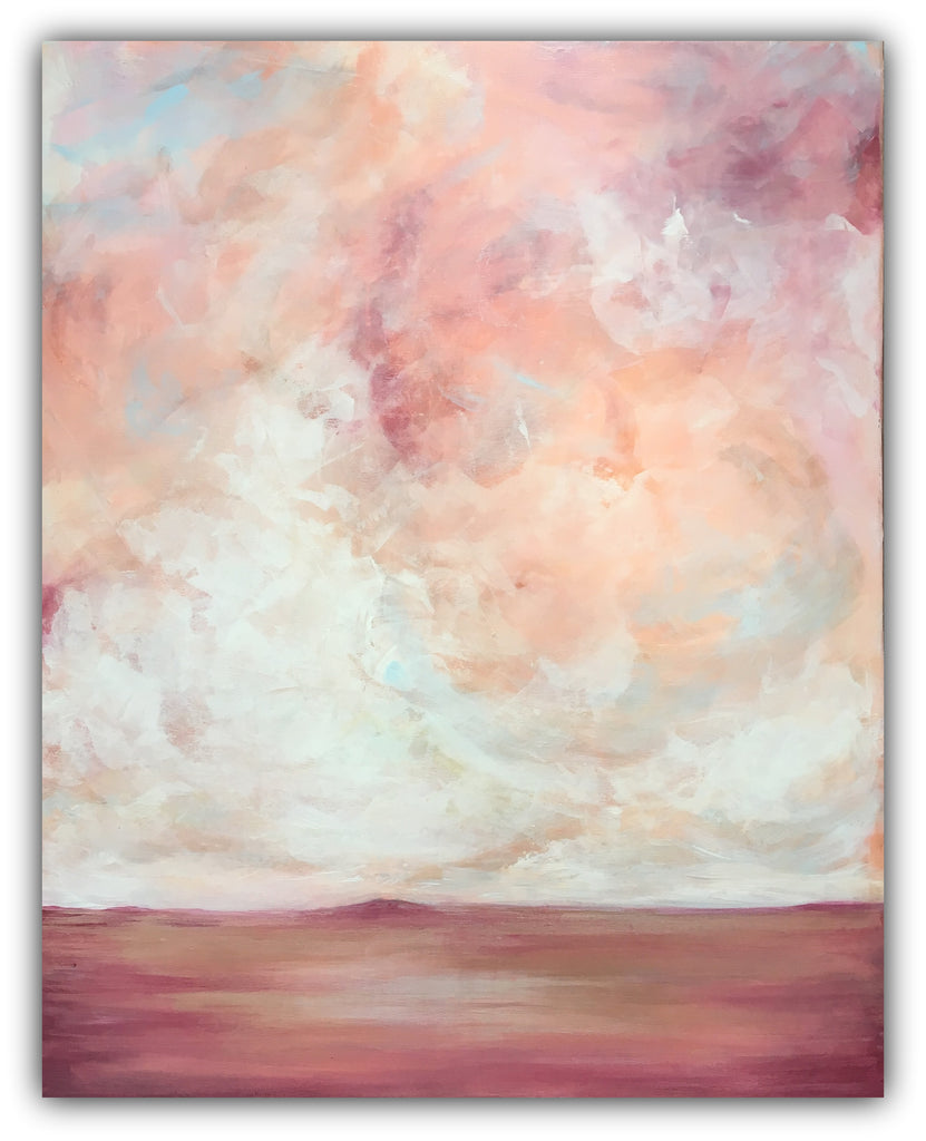 "Abstract Skyscape Painting ""Heaven's Ascent"" - The Modern Home Co. by Liz Moran"