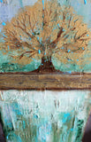 Summers Roots - Mixed Media Art - The Modern Home Co. by Liz Moran