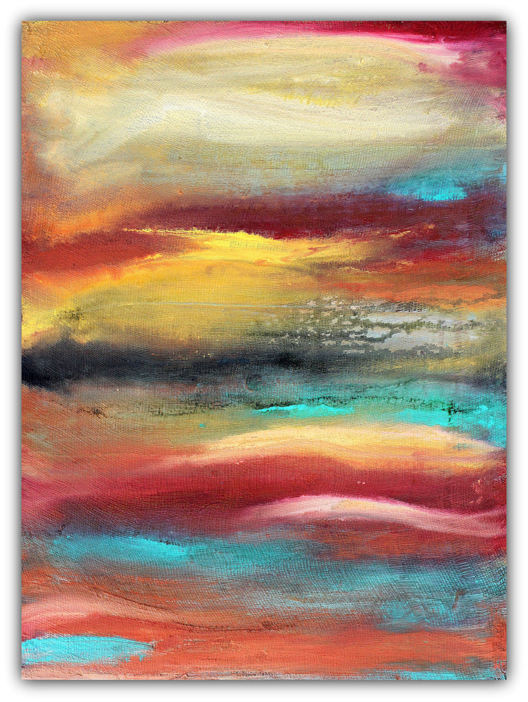 Castaway - Colorful Abstract Canvas Painting