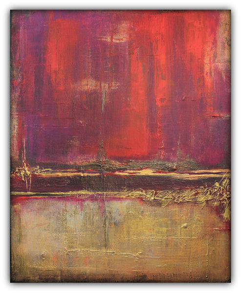 Hidden Gem - Red and Gold Painting - SOLD - The Modern Home Co. by Liz Moran